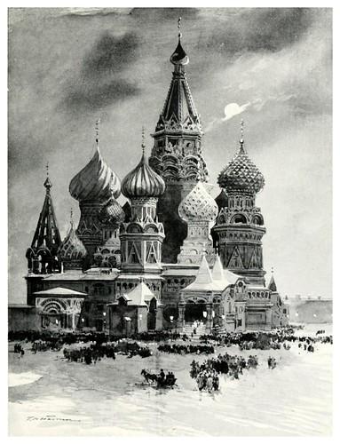 010.La iglesia de San Basilio en el palacio rojo una nochebuena-Russia-1913- F. de Haenen