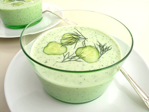 cold cucumber soup