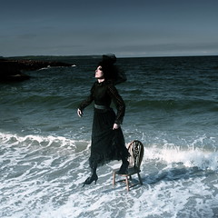 The Sea of Dreams (Helen Warner (airgarten)) Tags: sea lady photography coast chair victorian surreal helen warner dreams subconscious airgarten