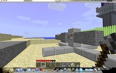 We don't worry too much about creepers around here... (Stryker2727) Tags: gun tank shell artillery mm 105 minecraft