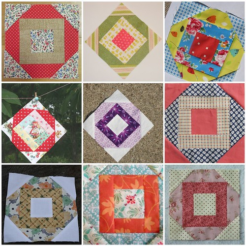 Farmer's Wife Quilt Along - #54 Kitchen Woodbox Examples