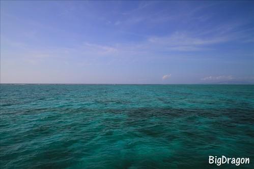 沖縄 空と海を2等分