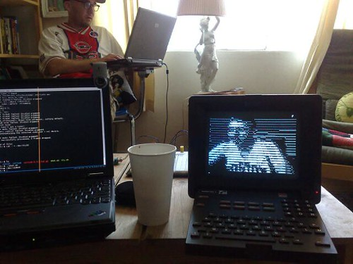 ASCII art webcam live on minitel