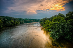 Golden River James (Sky Noir) Tags: travel trees sunset river landscape james virginia scenery dusk scenic va waterscape relections skynoir bybilldickinsonskynoircom