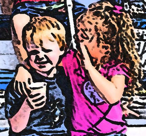 Cartoon kids...........Jeremiah and Hope