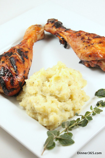 Day 210 - Grilled Turkey Legs and Mashed Potatoes