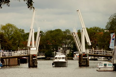 Open bridge (Michiel2005) Tags: bridge holland haarlem netherlands spaarne boot boat ship nederland drawbridge brug noordholland schip ophaalbrug