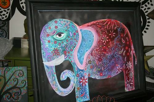 30 X 36 Elephant on Framed Gallery Wrapped Canvas by Rick Cheadle Art and Designs