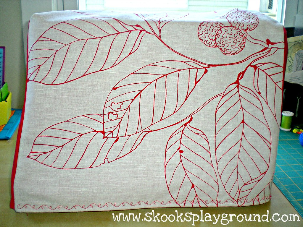 Leaves Sewing Machine Cover