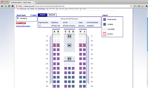 AAdvantage Elite Seat Map