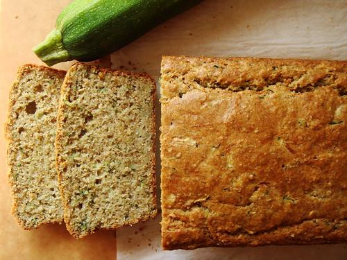 Zucchini Bread with Rye, Basil, Mint
