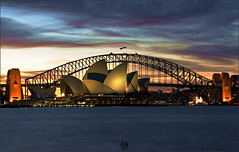 Opera House & Harbour Bridge (Az. Abdulrahman Alzahim) Tags: travel bridge flowers winter sunset sea summer portrait sky food house snow macro art fall sports nature water birds night sunrise canon landscape photography waterfall spring nikon women opera photographer action harbour australia az 200 18 tamron hdr  photographe  2011       anawesomeshot   1000d   stunningphotogpin best4gpin