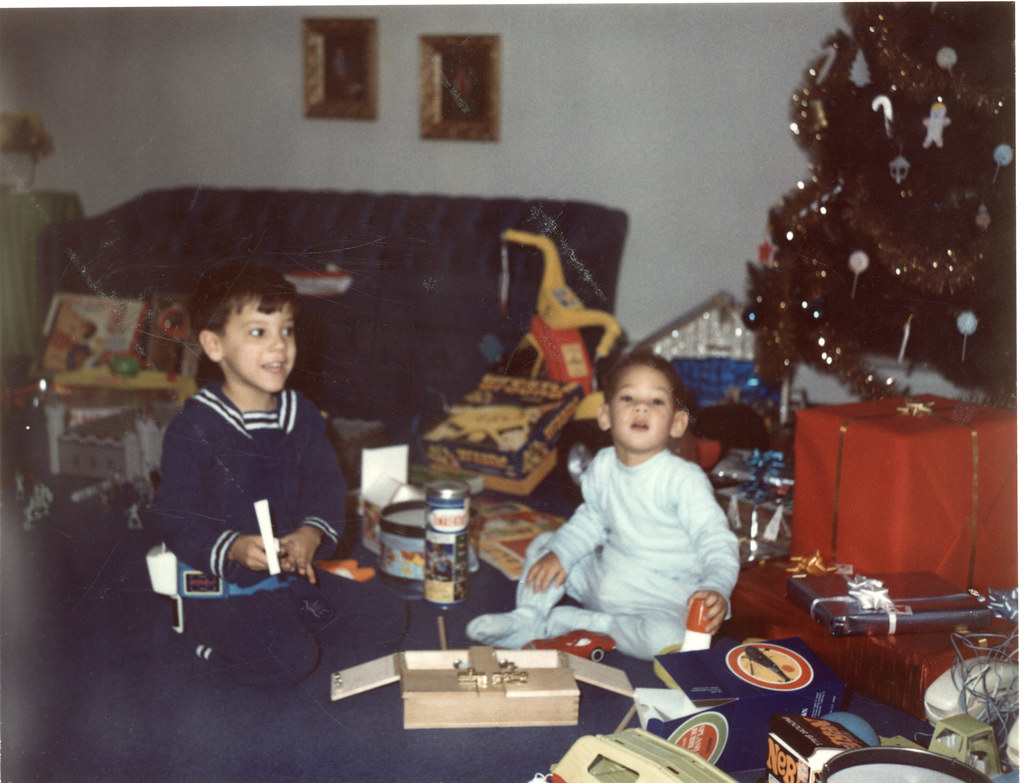 Tommy and Bobby on Christmas morning