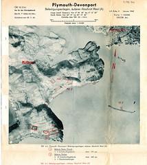 Millbrook and Rame : Jan 1942 (Plymouth History) Tags: cornwall map aircraft nazi plymouth aerial devon photograph german target bomb blitz bombing reich devonport secondworldwar stonehouse luftwaffe plymstock saltash torpoint