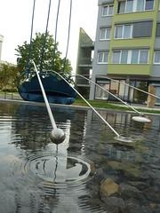 Wasser-Kinetische-Skulptur WINDPADDEL (mo_metalart) Tags: kineticsculpture kineticart wasserskulptur kinetischeskulptur waterkineticart skulpturfürdesinne sculptureforthesense