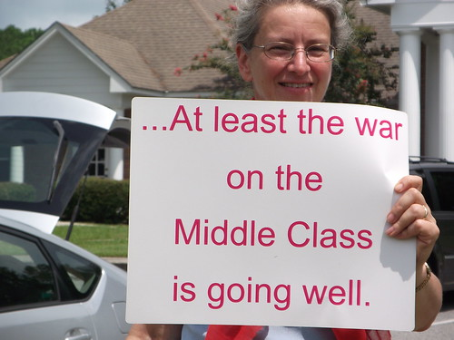 From flickr.com: At least the war on the Middle Class is going well. {MID-217664}