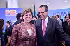 Líder do PMDB, Henrique Eduardo Alves com a governadora Rosalba Ciarlini (DEM-RN)