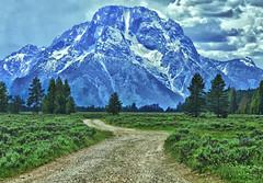 Mountain Road (Jeff Clow) Tags: road landscape dirtroad mountmoran tetons grandtetonnationalpark jacksonholewyoming