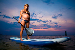 214/365 Journey of Motherhood (matthewcoughlin) Tags: sunset baby water canon mother pregnant belly maternity 7d softbox expecting paddleboard strobist 430exii