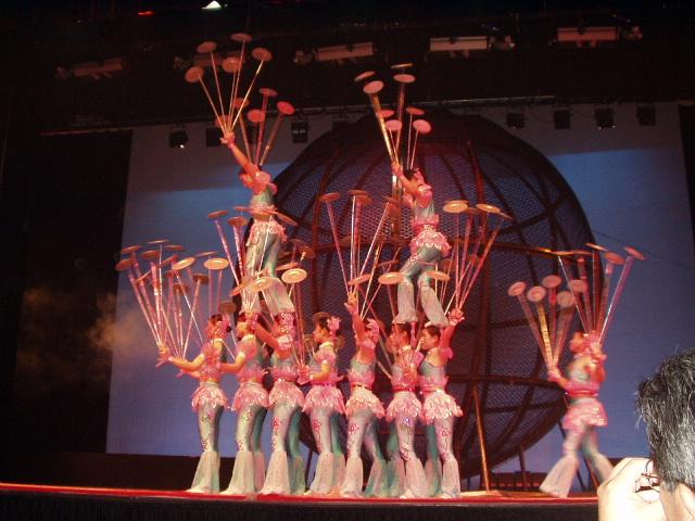 上海料理の夕食と上海雑技団(ショー・ミュージカル・パフォーマンス・公演・演劇のオプショナルツアー)