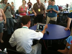 Bill Nye stayed in the Tweetup Tent after launch