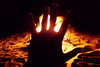 Flesh and Fire (Techuser) Tags: beach night fire fireplace nocturnal ilhabela sonyt200