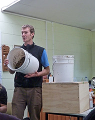 James talking about what to put in your compost toilet (Steve Taylor (Photography)) Tags: loo newzealand christchurch leaves james bucket rich toilet canterbury system human workshop smell nz material organic carbon compost lecture bog manure newbrighton excrement sawdust rawhiti peaking composttoilet rawhitidomain