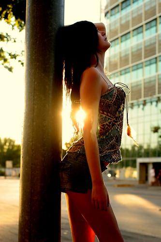 [フリー画像] 人物, 女性, 横顔, 201108090300