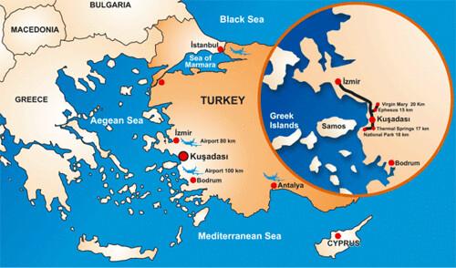Mapa de Turquia