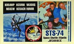 Ham Radio (Daryll90ca) Tags: hamradio qslcard sts74
