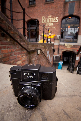 655/1000 - Holga outside The Beatles Story by Mark Carline