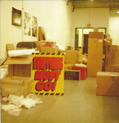 Moving Sale ([jonrev]) Tags: chicago west film sign retail polaroid moving store side go warehouse cardboard signage instant boxes everything closing must liquidation