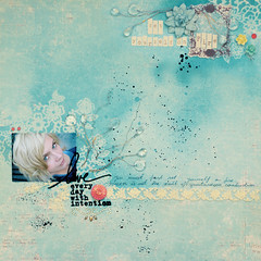 success isn't the result of spontaneous combustion :: you must first set yourself on fire (ania-maria) Tags: flowers blue mist scrapbooking paper layout lo prima scrap primamarketing aniamaria