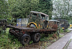Carrying (Timster1973 - thanks for the 9 million views!) Tags: abandoned southwales wales rust wheels rusty urbanexploration scrapyard trailer derelict carrying urbex abandonedtruck thescrapyard