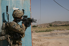 Sector of fire (The U.S. Army) Tags: afghanistan security soldiers af patrol kandahar warhorse 4thinfantrydivision 2ndbattalion 2ndbrigadecombatteam 8thinfantrydivision