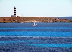 Faro de Punta Prima (Menorca) (irmapv) Tags: blue beach azul faro mar playa menorca doublyniceshot doubleniceshot irmapv