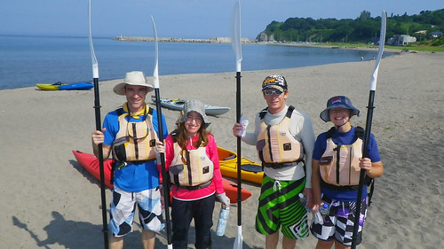 Sea kayaking morning tour with Blue Holic at Shiyoya (near Otaru), Hokkaido, Japan