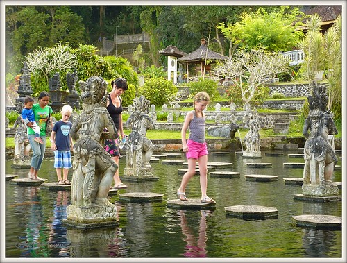 Stepping stones at Tirta Gangga