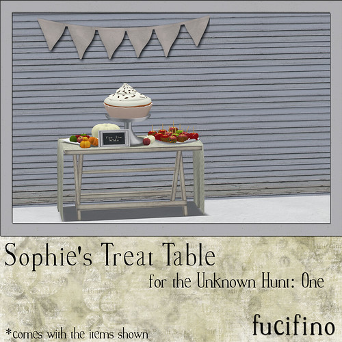 Sophie's Treat Table for the Unknown Hunt: One