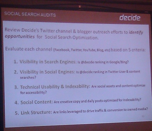 Search and Social: Olson Presentation