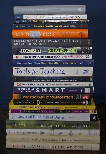 Some books I find heplful for teaching and presenting
