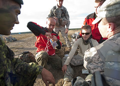 Getting the IV ready (U.S. Army Europe Images) Tags: canada jump military poland parachute multinational usarmyeurope bumgardner 173rdairbornebrigadecombatteam dragon11