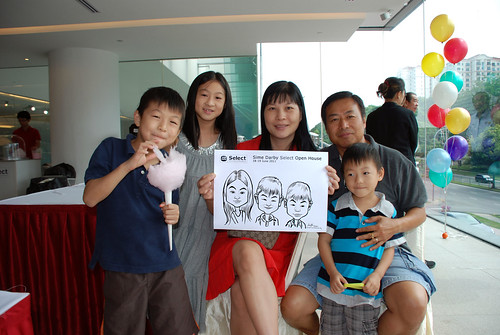 Caricature live sketching for Sime Darby Select Open House Day 2 - 25