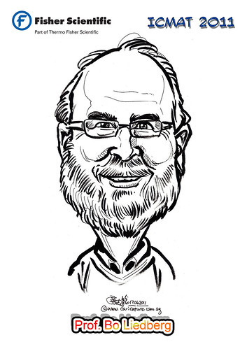 Caricature for Fisher Scientific - Prof. Bo Liedberg