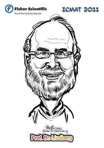 Caricature for Fisher Scientific - Prof. Bo Liedberg