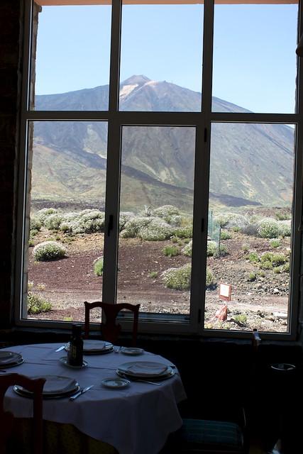Comiendo viendo el Teide