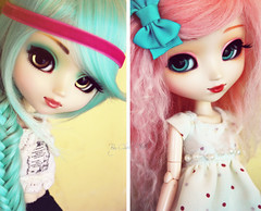 Yummybunnies :) (Chrii Chrii) Tags: pink blue girls girl hair yummy eyes aqua doll dolls aquamarine cyan pullip niamh pullips prunella dollie kirsche obitsu