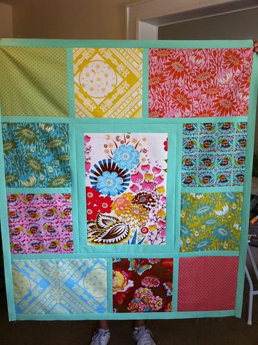 Tiles baby quilt top 2