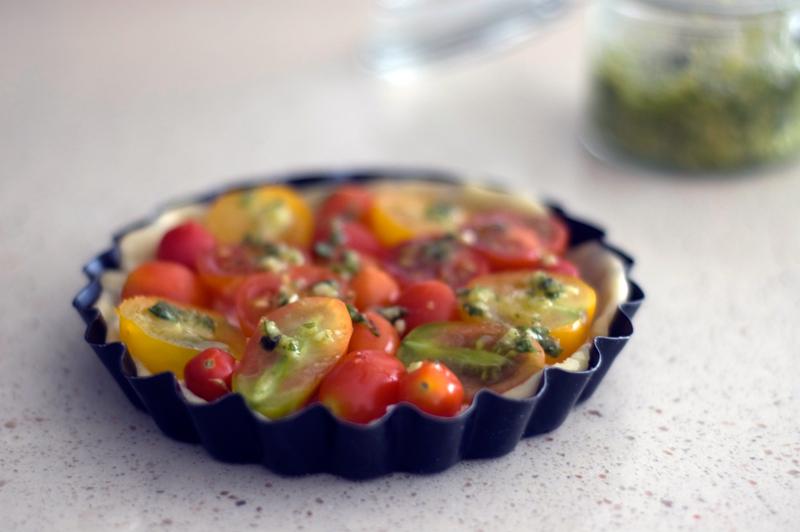 Tarte fina de tomate e ricotta //Tomato Ricotta Tart