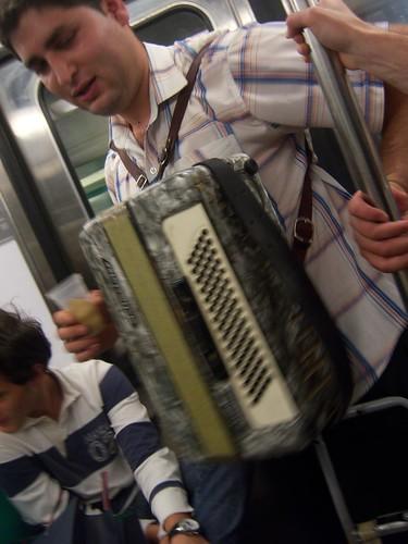 Accordion Player on Metro